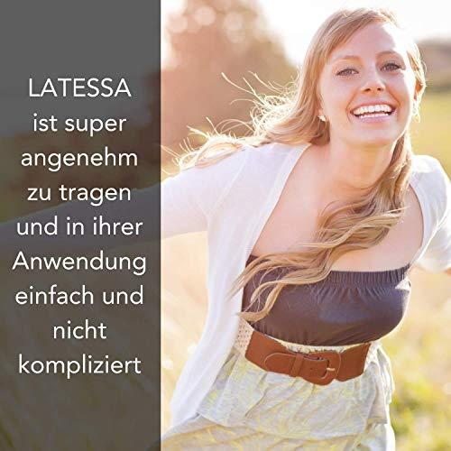 LATESSA Menstruationstasse – Made in Germany – geruchlos – farbstofffrei – medizinisches Silikon – Alternative zu Tampons und Binden – Menstruationstassen als nachhaltige Monatshygiene – Größe 1 – klein - 7