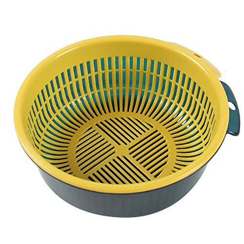 groente/groente/drainagemand voor huishoudelijke apparaten, keuken, dubbele drainage, basketbal, basketbal, comfortabele washrijst is bedoeld met holle ruimte van kunststof, woning, multifunctioneel, geschikt voor