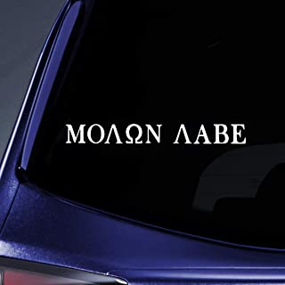 Bargain Max Decals Molon Labe (Come and TAKE Them!) Sticker Decal Notebook Car Laptop 8
