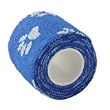 Ogquaton Azul autoadhesivo no tejido del vendaje multifuncional del vendaje del animal doméstico del vendaje de la forma de la pata