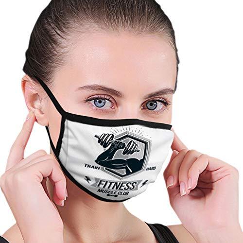 N/A Máscara bucal Lavable Reutilizable para Hombres Mujeres Culturism