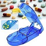 Tablettenteiler Pillenschneider Medikamententeiler, Pillenteiler Durchsichtig Kunststoff Medizin...