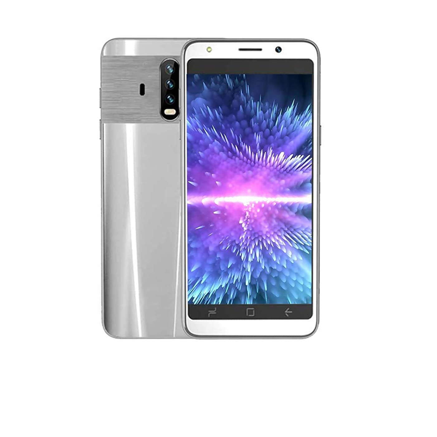 2019 New 5.0 Dual HD Camera Dual-Card Android 5.1 512M+4G GPS 3G Call Mobile Phone Smartphone Unlocked (Silver)