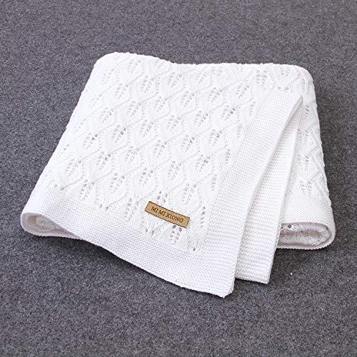 Taotigzu Manta de algodón para bebé, 80 x 100 cm, manta de punto acogedora para bebé, manta versátil de lana para bebé como manta para cochecito de bebé (color)