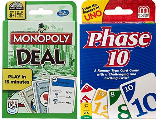 Monopoly Deal and Phase 10 2-Pack