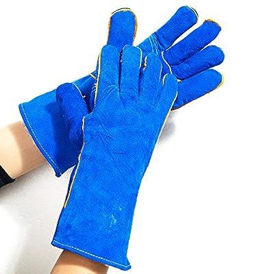Large Cowhide Suede Kevlar/Leather Welding Glove