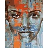 Pintura Digital DIY Imagen de Cara Naranja Lienzo decoración de Boda Imagen de Arte Regalo 40X50cm sin Marco