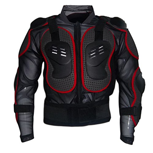 Dexinx Motorrad Rüstung Jacke Motocross Mountain Radfahren Skating Snowboard Body Protector Rot XL