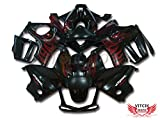 VITCIK (Fairing Kits Fit for CBR600F3 CBR600F 1997 1998 CBR 600 F3 97 98) Plastic ABS Injection Mold Complete Motorcycle Body Aftermarket Bodywork Frame (Red & Black) A002
