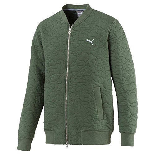 Sale!! Puma Golf Men's 2018 Camo Bomber Jacket, Medium, Laurel Wreath