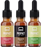 DELUXE EDITION 3 Pack Beard Conditioner Oils Kit for Men [2oz] - Sandalwood