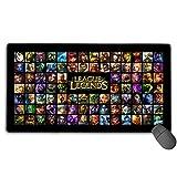 Alfombrilla de Goma Antideslizante para Ratones, diseño Personalizado para PC, Ordenador portátil, para Legends League (Ahri)