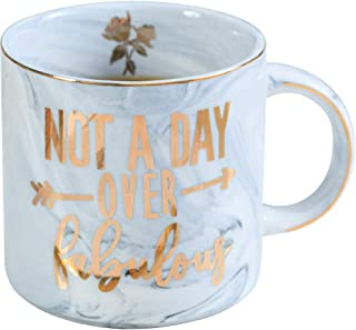 Birthday Gifts for Women - Not a Day Over Fabulous - Gifts Ideas forfor Women, BFF, Best Friends, Coworkers, Her, Wife, Mom, Daughter, Sister, Aunt - Marble Ceramic Mug 13 oz(Grey)