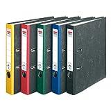 HERLITZ Ordner maX.file nature A4 5cm | Wolkenmarmorbezug selbstklebendes Rückenschild | 5er Sparpack in diversen Farben zur Auswahl (Sortiert)