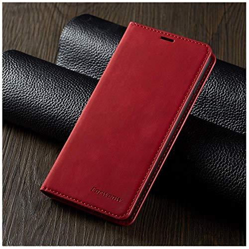 TGBS - Funda de piel con tapa para Samsung S9 S8 S7 Edge S10 S20 Ultra Plus Note 9 10 Lite, Rojo, For A51 4G
