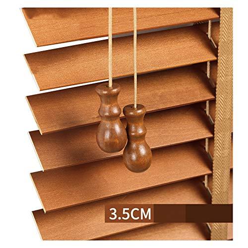 ZEMIN Jalousien Sichtschutz Fenster Abweisend Hotel Holz Anhebbar, Innen/Außen Installieren, Größe Anpassbare, 2 Farbe (Color : A, Size : 100x180cm)