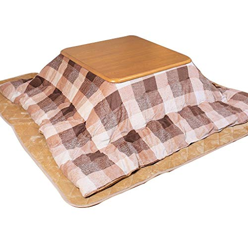 Kotatsu Tisch-Set Square Futon Tisch Winter Innen-Heiztisch Wohnzimmer Tatami Tisch Leseschlaf Heiztisch (Color : Khaki, Size : 80 * 80 * 41cm)
