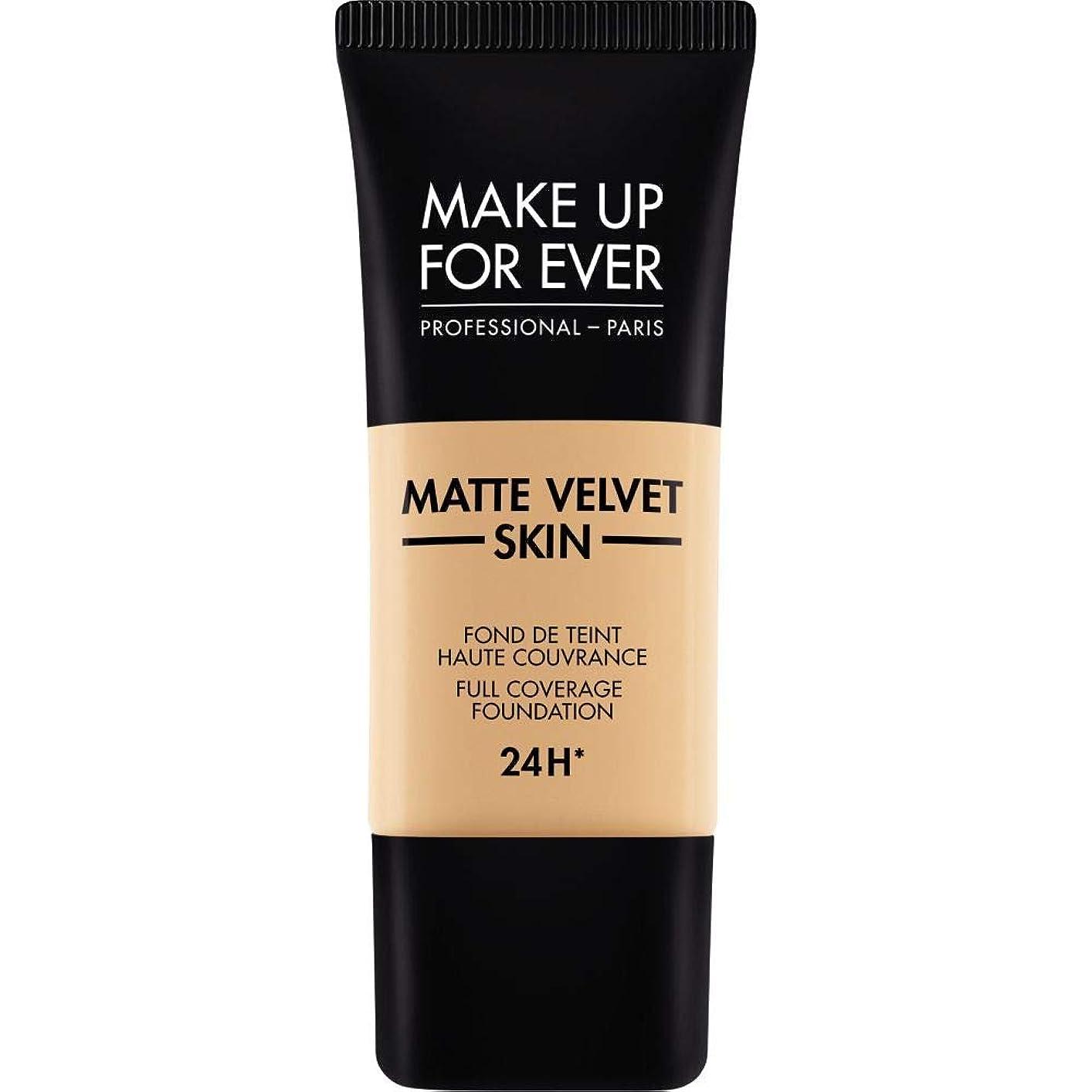 無駄に物語組立[MAKE UP FOR EVER ] 暗い砂 - これまでマットベルベットの皮膚のフルカバレッジ基礎30ミリリットルのY335を補います - MAKE UP FOR EVER Matte Velvet Skin Full Coverage Foundation 30ml Y335 - Dark Sand [並行輸入品]