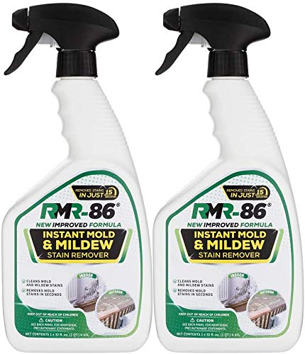 RMR-86 Instant Mold and Mildew Stain Remover Spray - Scrub Free Formula, Bathroom Floor and Shower Cleaner, 2 - 32 Fl Oz bottles