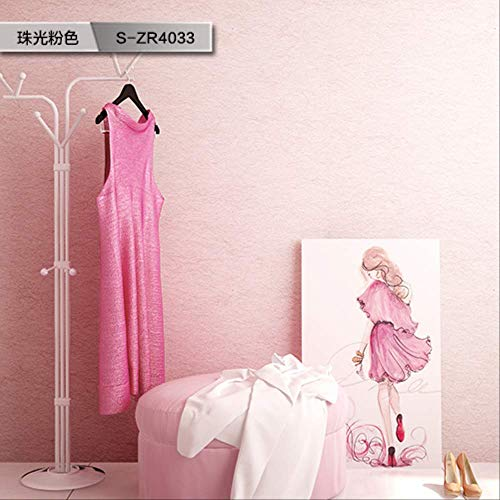Papel pintado liso de arroz, estilo nórdico para salón, sin tejer, S-ZR4033 Pearly Pink-6, solo para venta de papel pintado