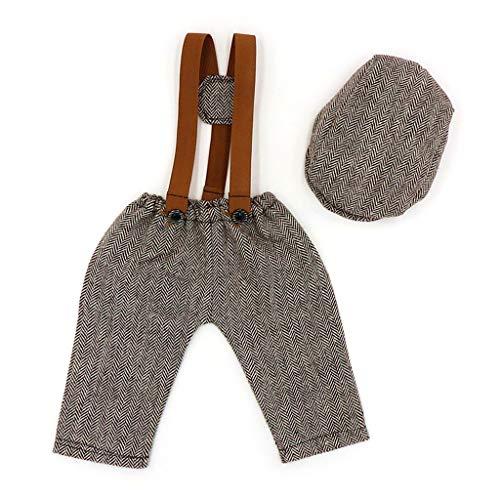 S-TROUBLE Neugeborene Hut Hosen Kleidung Set Foto Shooting Kostüm Outfit Fotografie Requisiten