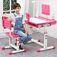 子供の学習テーブルの組み合わせデスクデスク生徒の書き込みホームジョブの男性と女性の机を持ち上げることができます (Color : Pink)