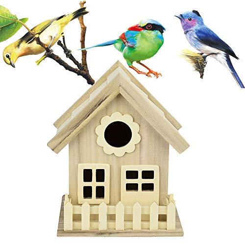 Rameng Nichoir Oiseaux Bird House en Bois Nid DOX Maison d'oiseau oîte Boîte (A,17,5x16cm)