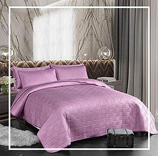 King Bedspread Set 6pcs - 100% Tencel Cotton - Bedding Set - 1 Bedspread 240x260cm - 1 Fitted Bed Sheet 200x200+30cm - 4 P...