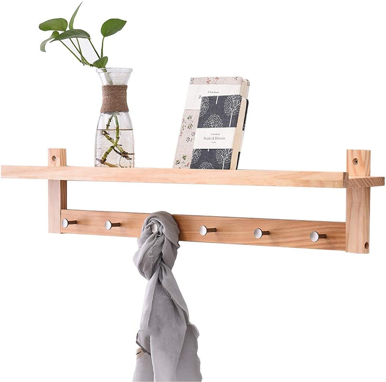 Feifei Wall-Mounted Coat Rack Solid Wood Creative Bedroom Living Room Multi-Function Storage Rack Hanger, 4 Sizes (Size   86  12  18cm)