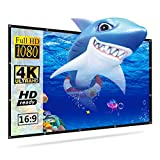 100 inch Projector Screen, Salange 3D 4K 16:9HD Foldable Anti-Crease Projection Movie Screens for Outdoor/Home Theater,Support Front & Rear Projection