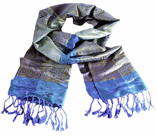 Irish Designed Mulligans Pashmina Scarf With Celtic Knots and Rathlin Design
