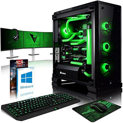 Vibox Venom GL780T-46 Gaming-PC Computer mit Spiel Bundle, Win 10 Pro, 3X Triple 24 Zoll HD Monitor (4,9GHz Intel i7 8-Core, 2X Dual SLI GeForce GTX 1080 Ti, 32Go DDR4 RAM, 480GB SSD, 4TB HDD)