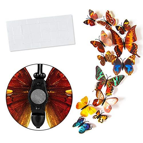 Imanes de Mariposa para Nevera, Juego de 36 Piezas, Adornos de Mariposa de plástico Resistentes a los Impactos, Hermosos imanes Decorativos para el hogar, para Nevera, Pizarra magnética.