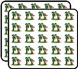 Vinyl-Aufkleber mit Affen-Palme, lustig, niedlich, für Kinder, Basteln, Scrapbooking, Laptop, Stoßstange, Autoaufkleber, Aufkleber für Kinder, 50 Stück