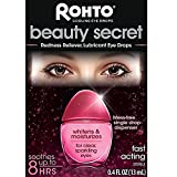 Rohto Beauty Secret Cooling Eye Drops 0.4fl oz. (Redness Reliever, Lubricant) - helps to whiten and refresh, red, irritated eyes