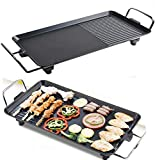Electric Teppanyaki <span class='highlight'>Grill</span> Table Portable <span class='highlight'>Barbecue</span> Desk Tabletop <span class='highlight'>Outdoor</span> Stainless Steel Smoker BBQ Plate for Kitchen Dinner Party Picnic Garden Terrace Camping Festival Cooking XL Size:67x29.5x8.5cm