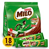 Nestle Milo 3-in-1 Chocolate Powder (Richer than The Original) - Instant Malt Chocolate Milk Powdered Drink - Fortified Energy Drink - More Chocolatey & More Malty - Imported from Malaysia, 18 Sticks