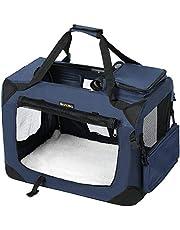 FEANDREA Bolsa de Transporte para Mascotas Transportín Plegable para Perro Portador Tela Oxford Azul Oscuro L 70 x 52 x 52 cm PDC70Z