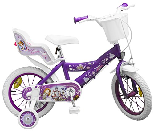 Toimsa - Bicicletta da Bambina, 14' (dai 4 ai 7 Anni), Motivo: La Principessa Sofia