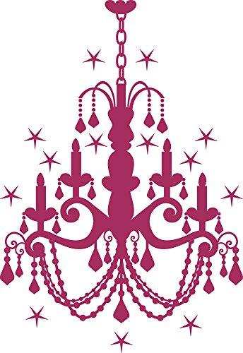 GRAZDesign Wall Tattoo Kronleuchter, Glitzer Wandtattoo Deckenlampe, Wandtattoo Schloss Kristall / 73x50cm