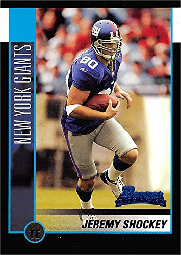 Jeremy Shockey football card (New York Giants) 2002 Bowman Rookie #125