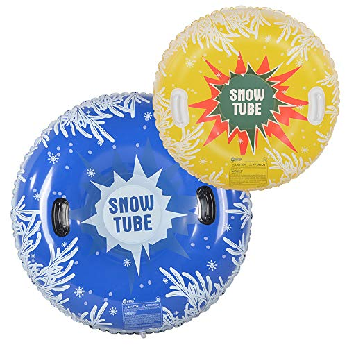 HIWENA Snow Tubes, Inflatable Snow Tubes for Family with 2 Higher Handles, Heavy...
