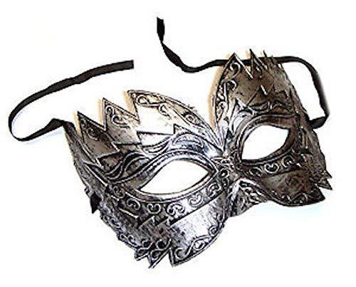 The Rubber Plantation TM 619219290449 Masque vénitien argenté, pour bal masqué, costumé, unisexe, taille unique