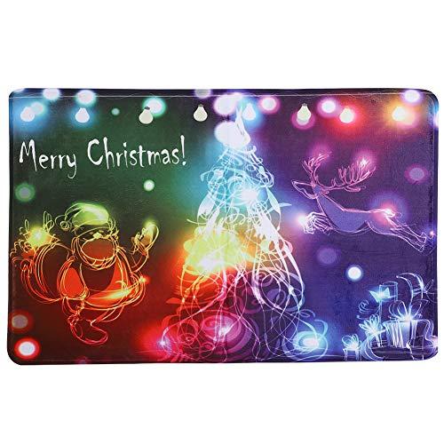 Flanel vloermatten Vrolijk kerstmis tapijten vloertapijten kerstdecoratie huisingang vloermat voor slaapkamer woonkamer 19,7 x 31,5 inch MEERWEG OPKING