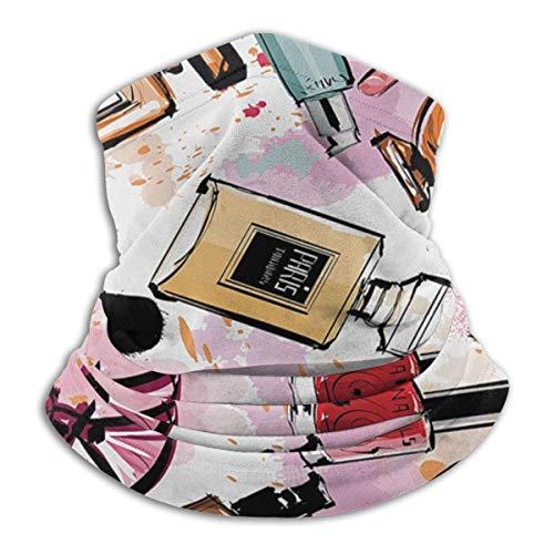 Girly Cosmetic und Make Up Theme Pattern mit Parfüm und Lippenstift Nagellack Pinsel Modern City...