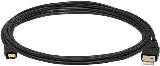 Black 10FT 2.0 USB Cable Type A to Mini B Male to Male 5 PIN for Texas Instruments TI 84 Plus/TI 84 Plus C Silver Edition,TI 89 Titanium, TI Nspire CX/TI Nspire CX CAS Graphing Calculators