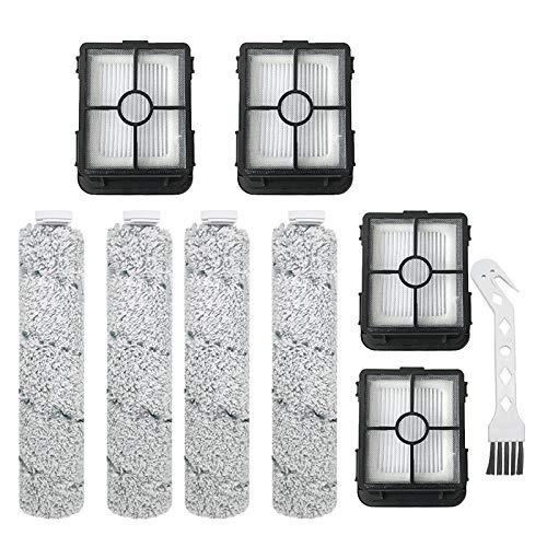Piezas de repuesto para aspiradora Bissell 2554A (4 rodillos de cepillo+4 filtros) accesorios para aspiradora (color: 8 piezas)