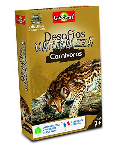 Bioviva- Juego de cartas Desafíos Naturaleza Carnívoros (