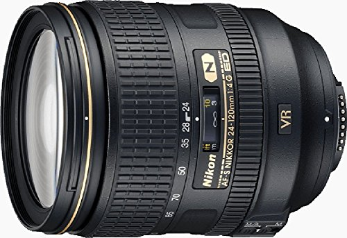 Nikon AF-S 24-120mm F4 ED VR - Objetivo para Nikon (Distancia Focal 36-180mm, Apertura f/4, Zoom optico 5X, estabilizador) Color Negro (Reacondicionado)