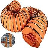 Mophorn Conducto Flexible de PVC Ventilador 7,6 m Diámetro de 75 cm Manguera de Conducto Flexible de PVC Conducto de Ventilación Tubo de Manguera de Ventilación Conductos de Aire de PVC Ignífugo